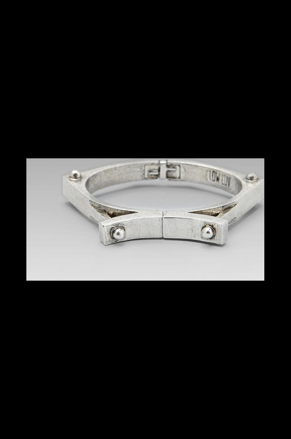 Low Luv x Erin Wasson Atlantis Architectural Magnetic Bangle in Silver