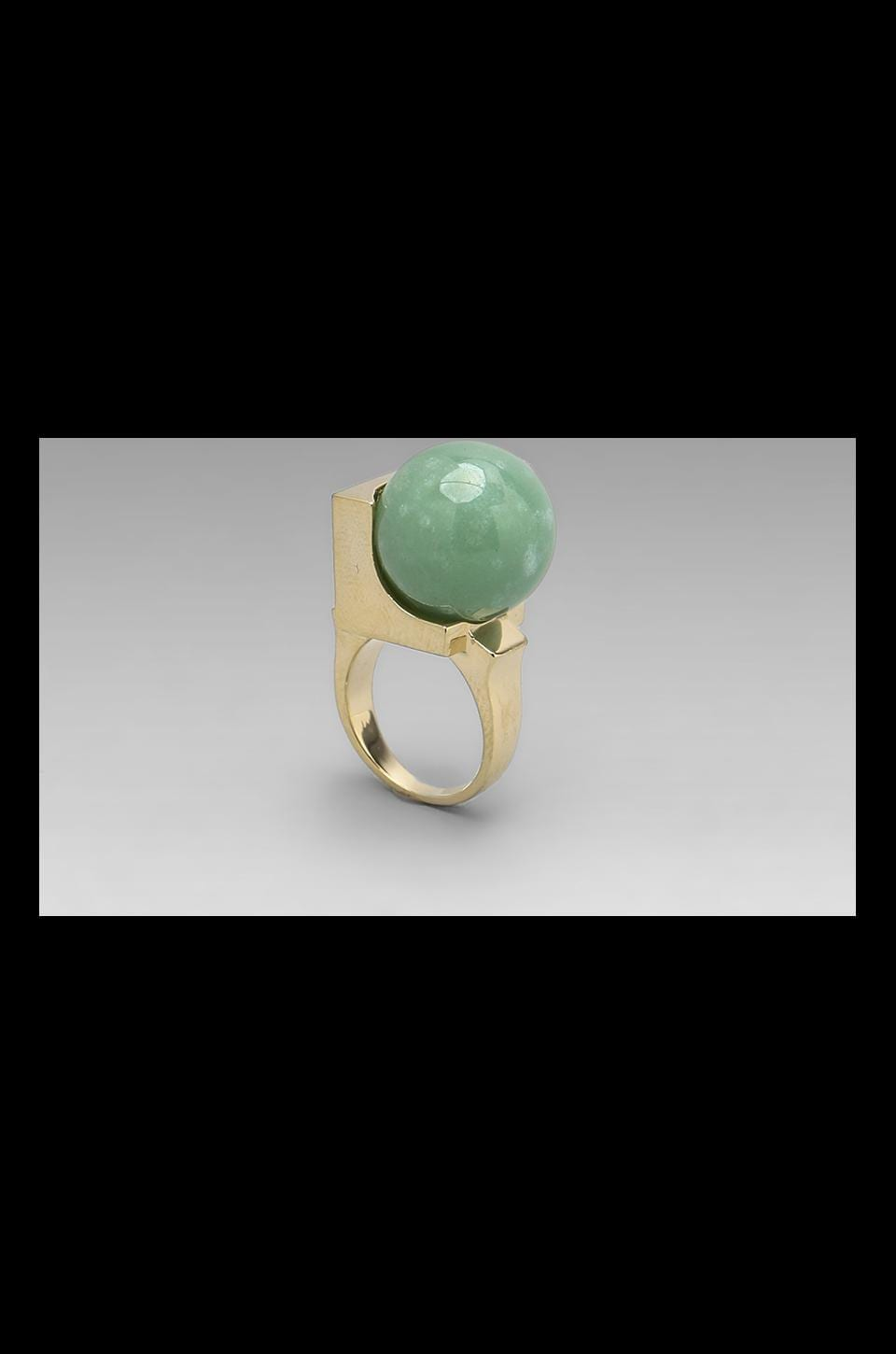 Low Luv x Erin Wasson Cyrstalline Orb Ring in Green Alexandrite