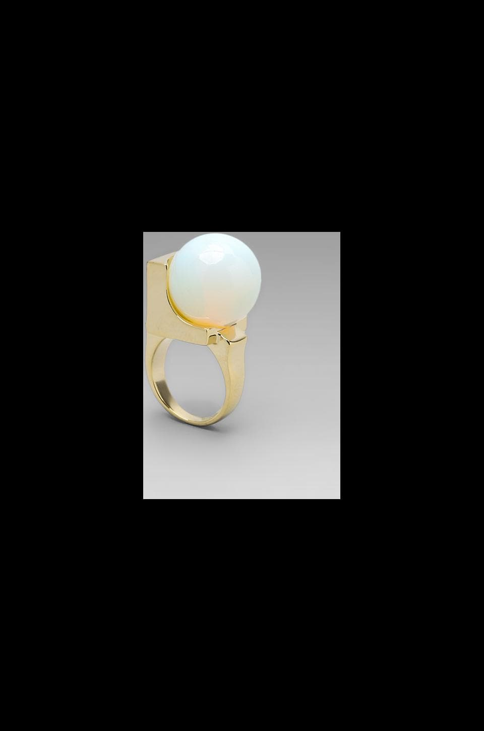 Low Luv x Erin Wasson Crystalline Orb Ring in Moonstone