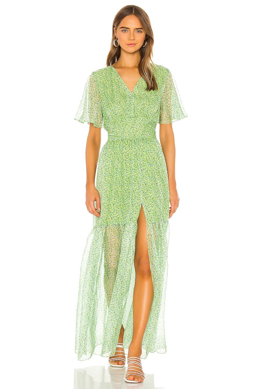 eywasouls malibu Maria Dress in Neo Mint Millefleur Print