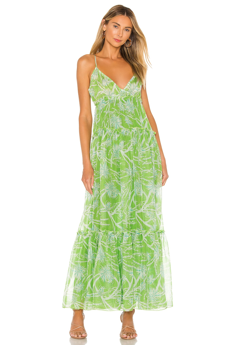 eywasouls malibu Olivia Dress in Queen Green Print