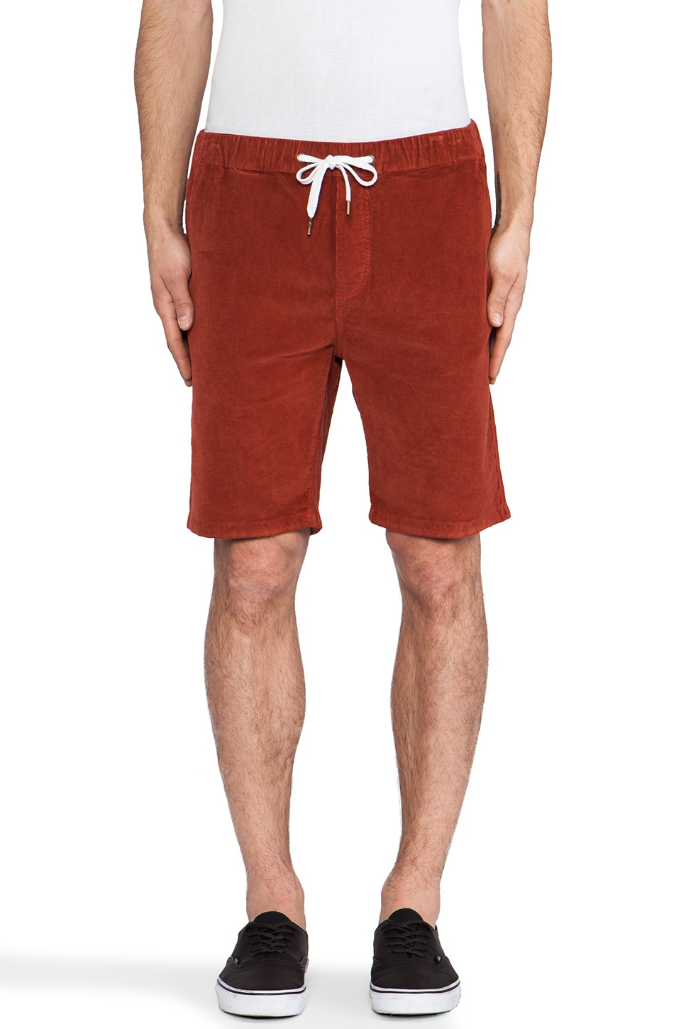 Ezekiel Iggy Corduroy Short in Red