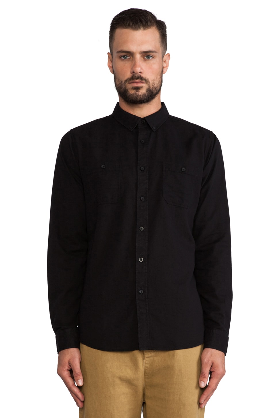 Ezekiel Karved Shirt in Black