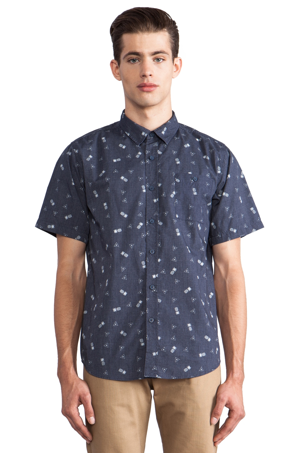 Ezekiel Franco Button Down in Navy