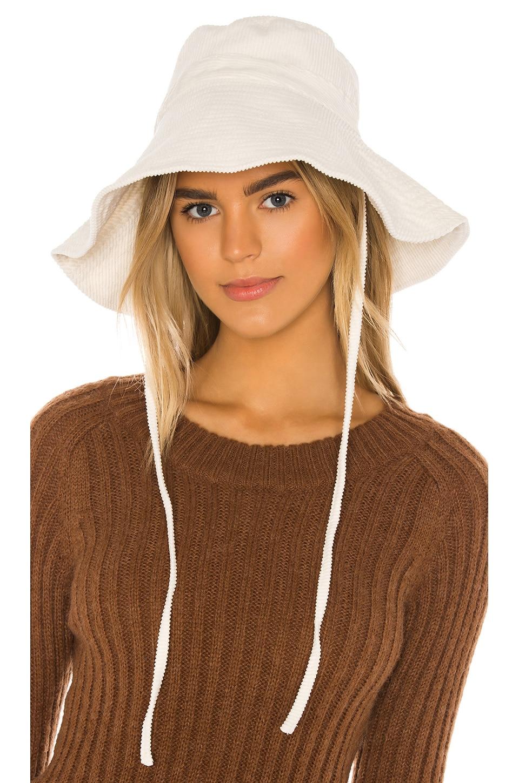 FAITHFULL THE BRAND Corduroy Sun Hat in Vanilla