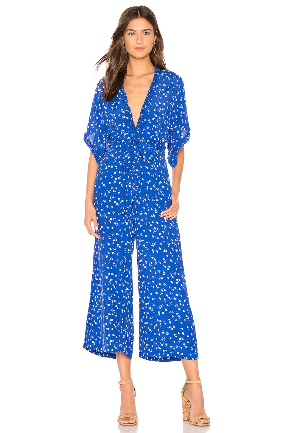 FAITHFULL THE BRAND La Villa Jumpsuit in Cobalt Betina Floral