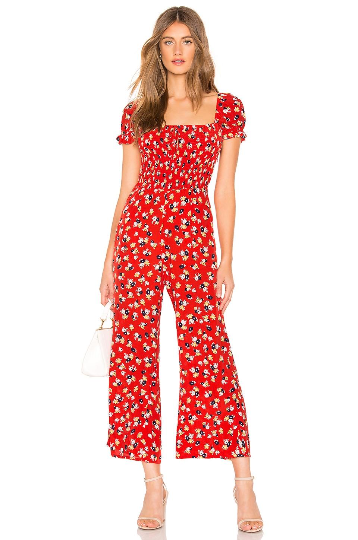 FAITHFULL THE BRAND Della Jumpsuit en Red Jasmine Floral
