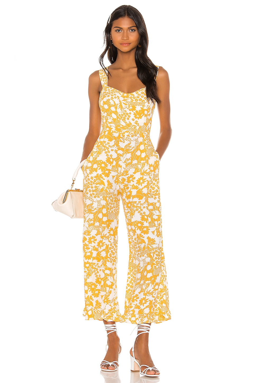 FAITHFULL THE BRAND Kasbah Jumpsuit in Jasmine Yellow Hestia Floral
