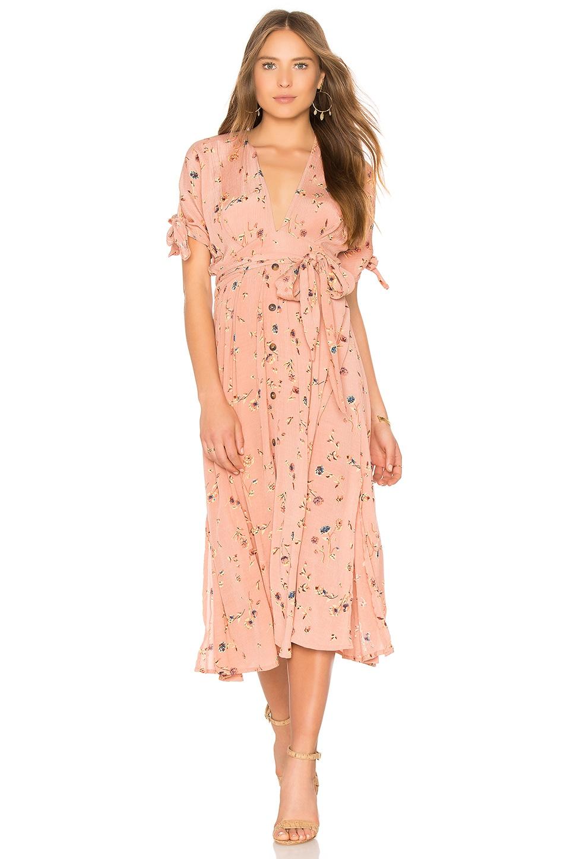 FAITHFULL THE BRAND Nina Midi Dress in Salina Print