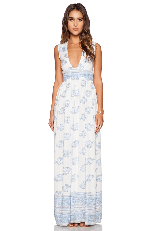 FAITHFULL THE BRAND Night Orchard Maxi Dress in Sunfaded Print