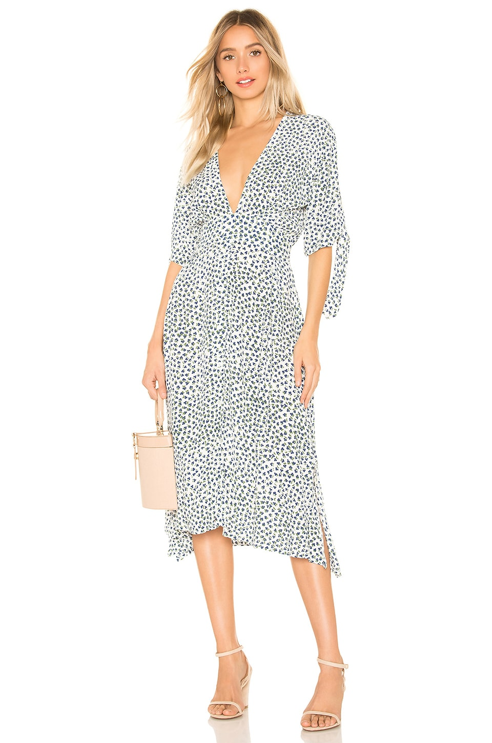 FAITHFULL THE BRAND Nina Midi Dress in White