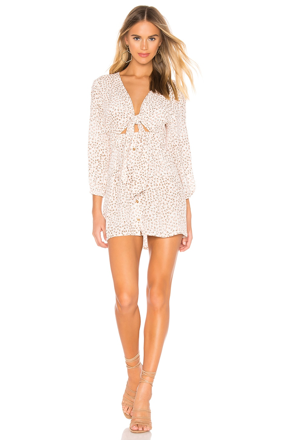 89a8aff3db Faithfull The Brand Trinidad Tie-Front Floral-Print Crinkled-Crepe Mini  Dress In