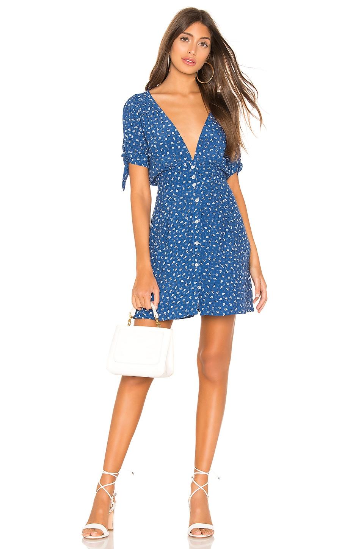 FAITHFULL THE BRAND X REVOLVE Marianne Dress in Blue Monette Floral