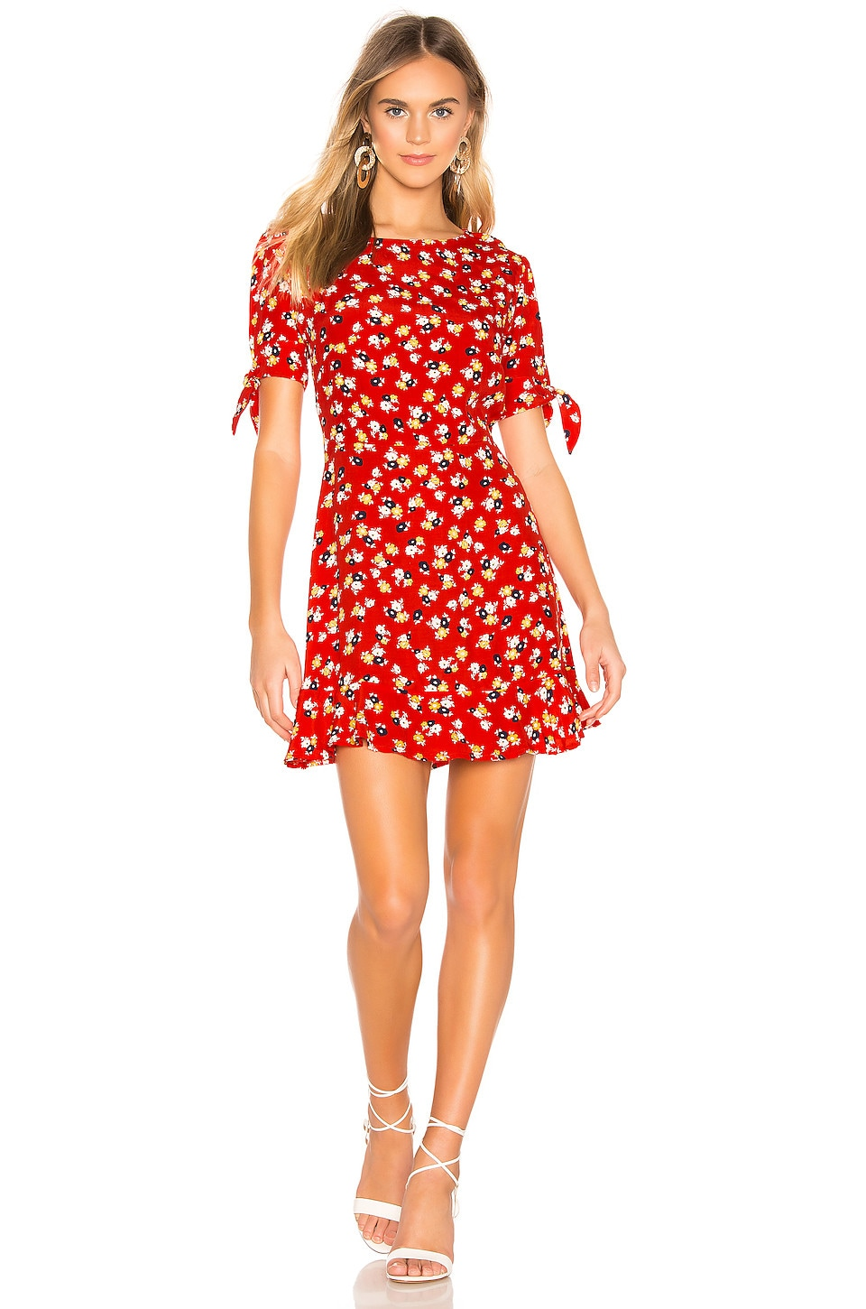 FAITHFULL THE BRAND Daphne Dress in Red Jasmine Floral