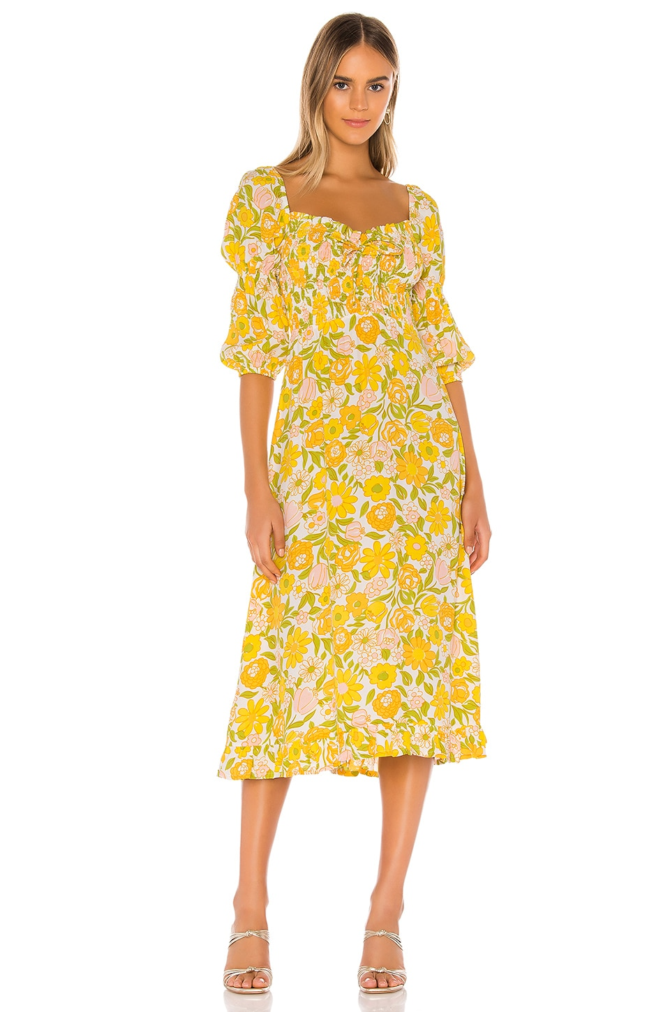 FAITHFULL THE BRAND Nora Midi Dress in Jolene Floral