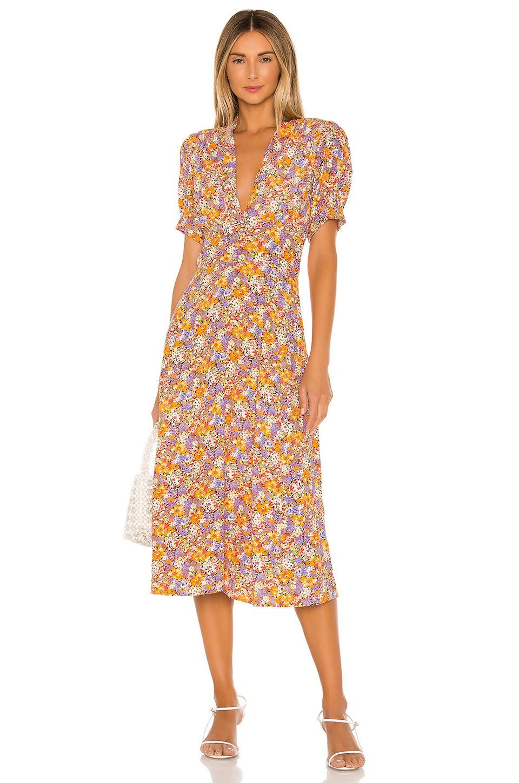 FAITHFULL THE BRAND Meadows Midi Dress in Meja Floral