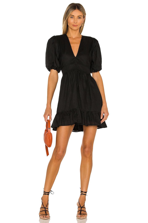 FAITHFULL THE BRAND Catrina Mini Dress in Plain Black
