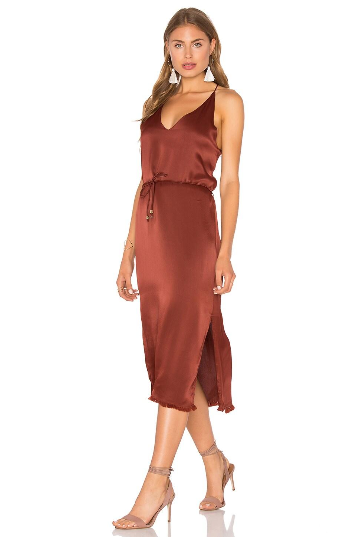 FAITHFULL THE BRAND East West Dress in Plain Amber