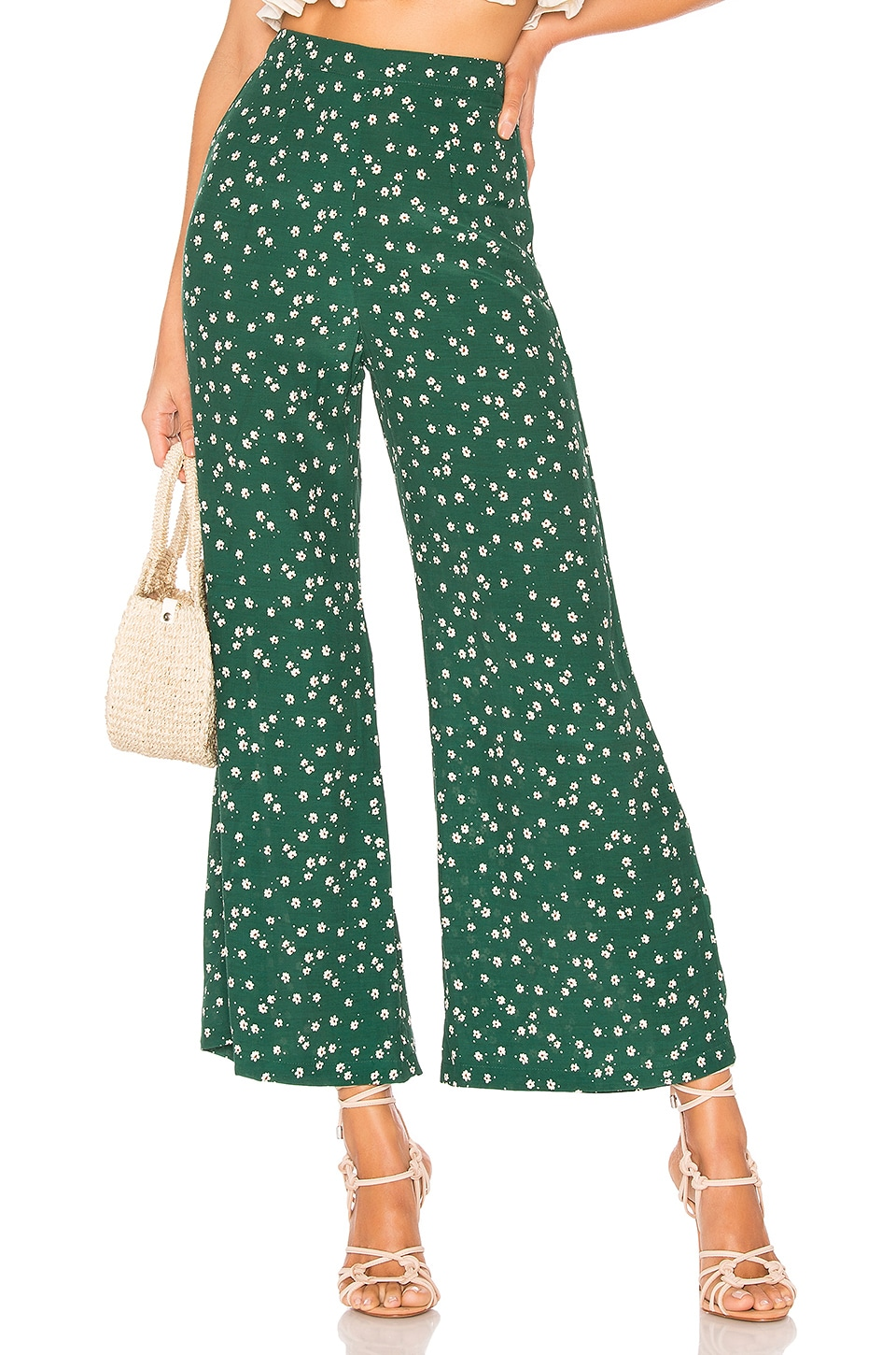 FAITHFULL THE BRAND Gabrielle Pant in Green Betina Floral