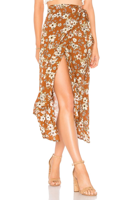 FAITHFULL THE BRAND Caribe Wrap Skirt in Cecile Rose Print
