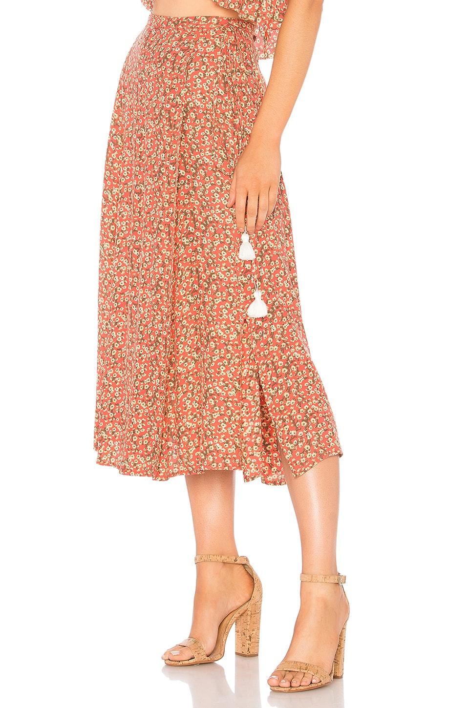 FAITHFULL THE BRAND Marieta Skirt in Blossom Village Print Vintage Pink