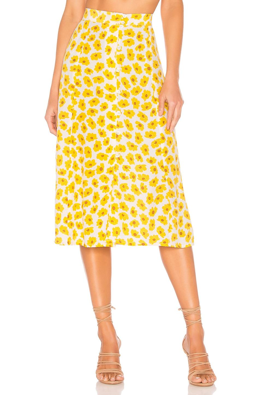 FAITHFULL THE BRAND Marin Skirt in Marigold Constance Floral