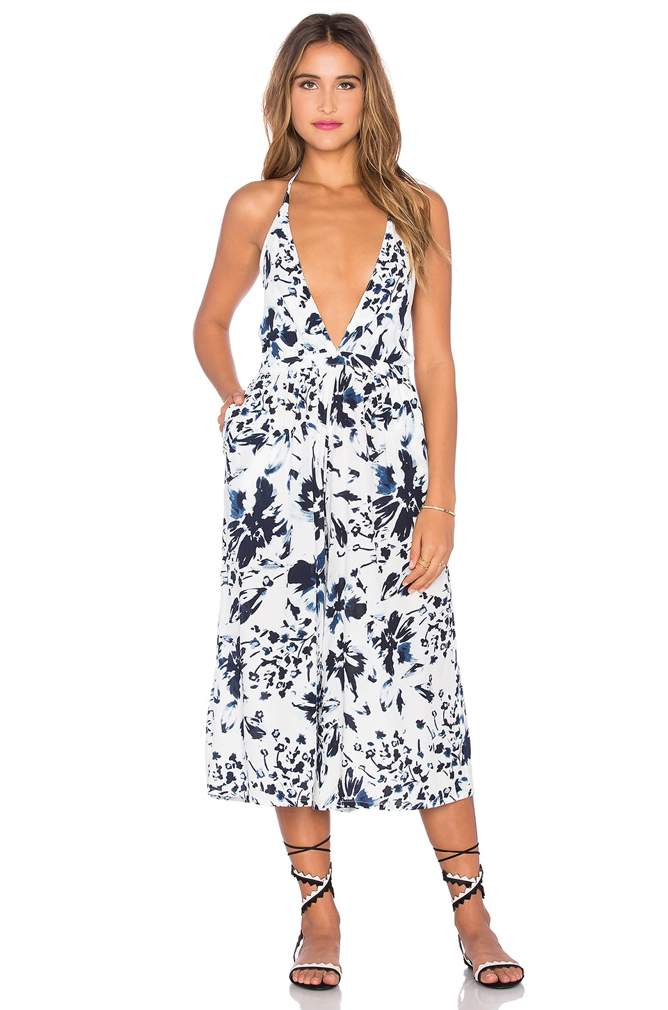 FAITHFULL THE BRAND Hamptons Jumpsuit in Meadows Print