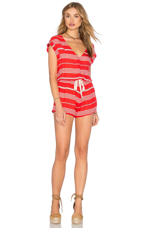 FAITHFULL THE BRAND Simone Romper in Vista Stripes