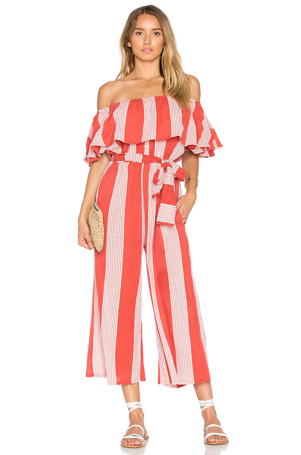 FAITHFULL THE BRAND x REVOLVE Holiday Jumpsuit in Picnic Stripe Print