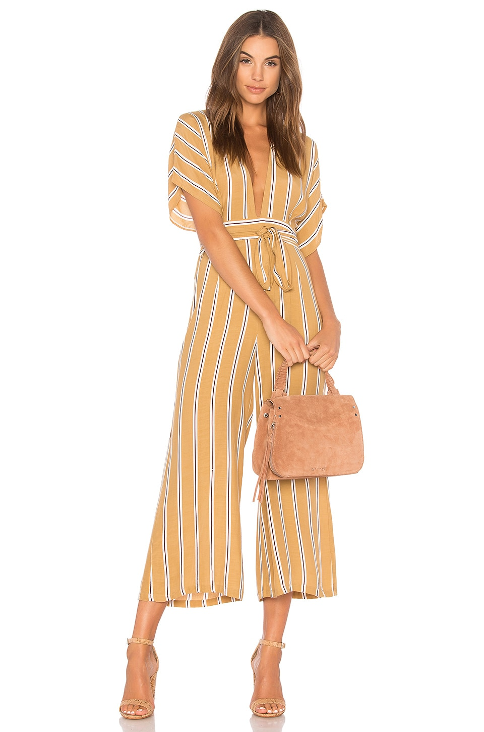 FAITHFULL THE BRAND Cedric Jumpsuit in Clarke Stripe Print