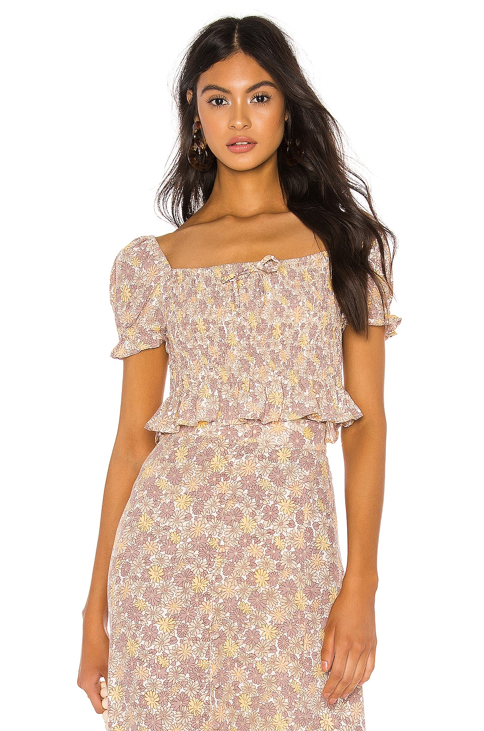 FAITHFULL THE BRAND Marie Top in Dusk Zoella Floral