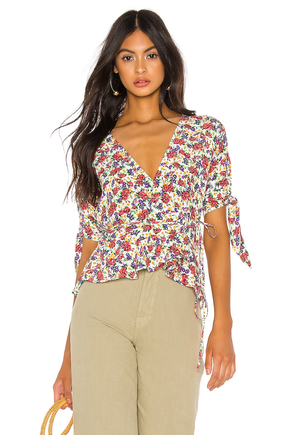 FAITHFULL THE BRAND Lucy Wrap Top in Lumina Floral