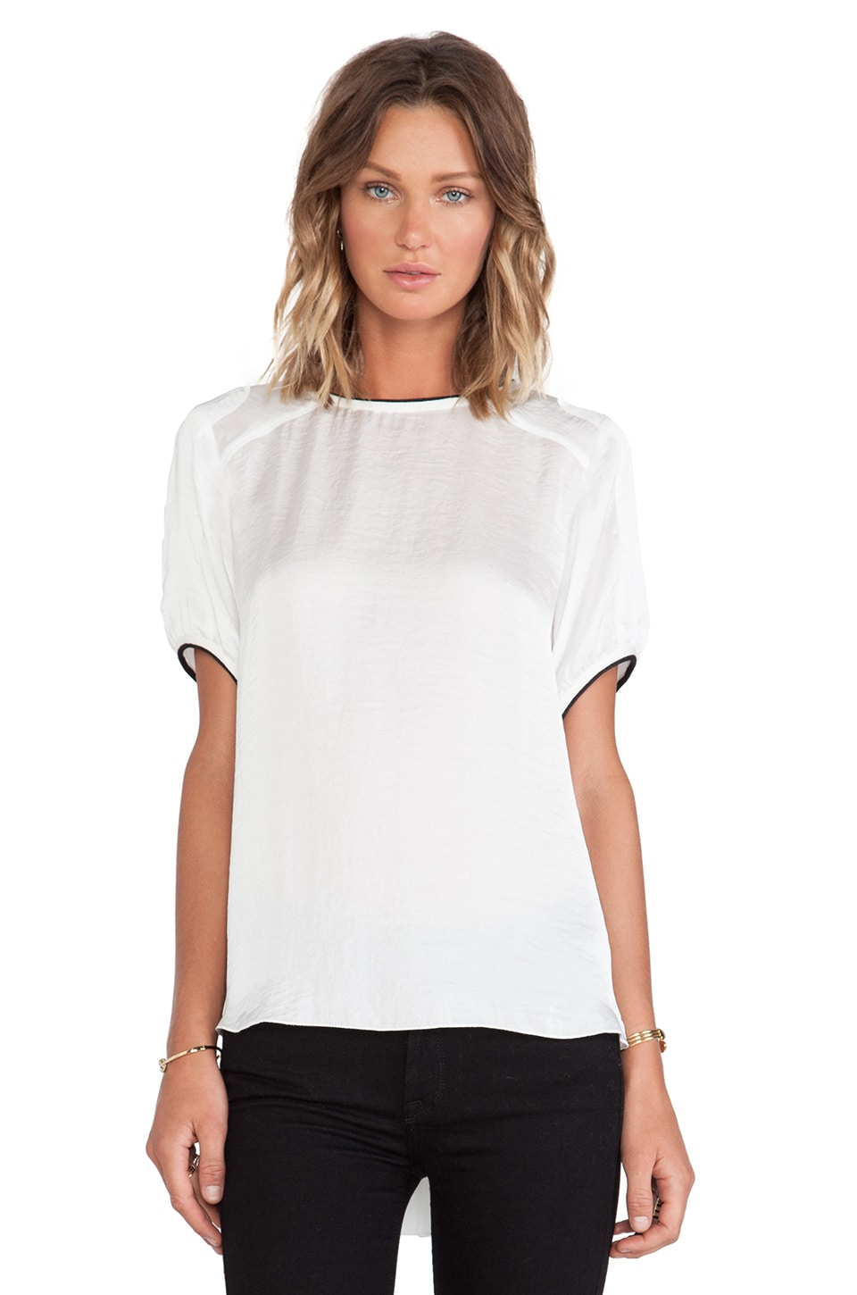 Faith Connexion Fluid Satin Top in White
