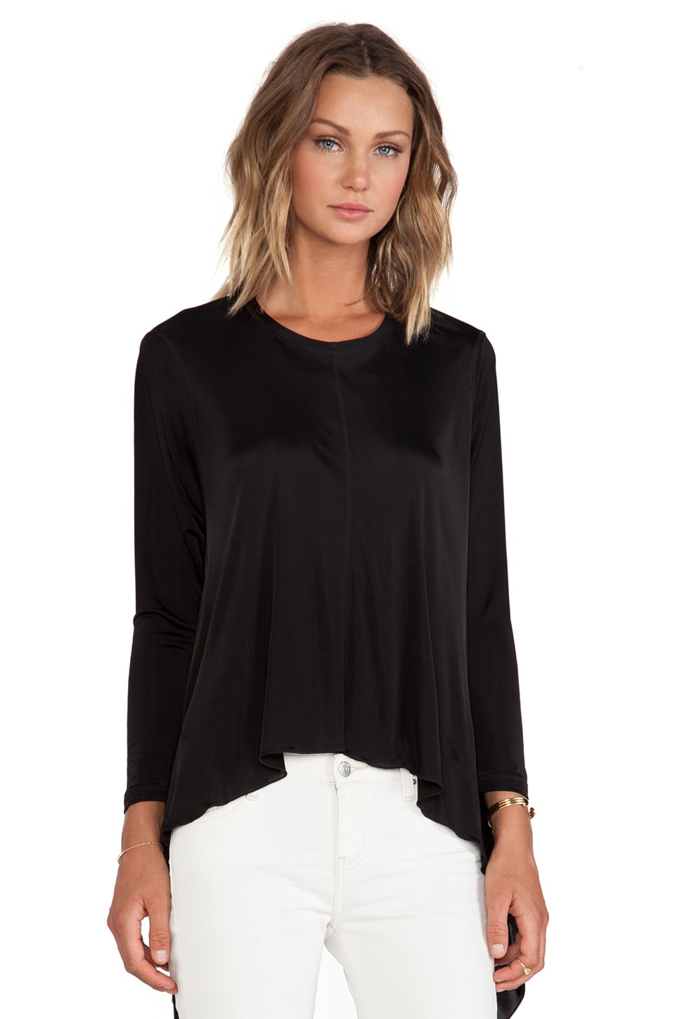 Faith Connexion Fluid Jersey Top in Black