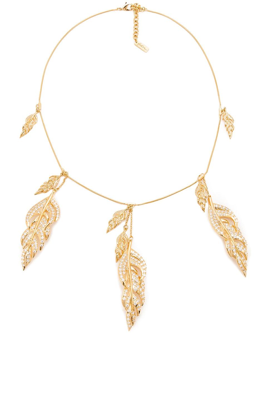 Fallon Metallic Gold Raven V Bib