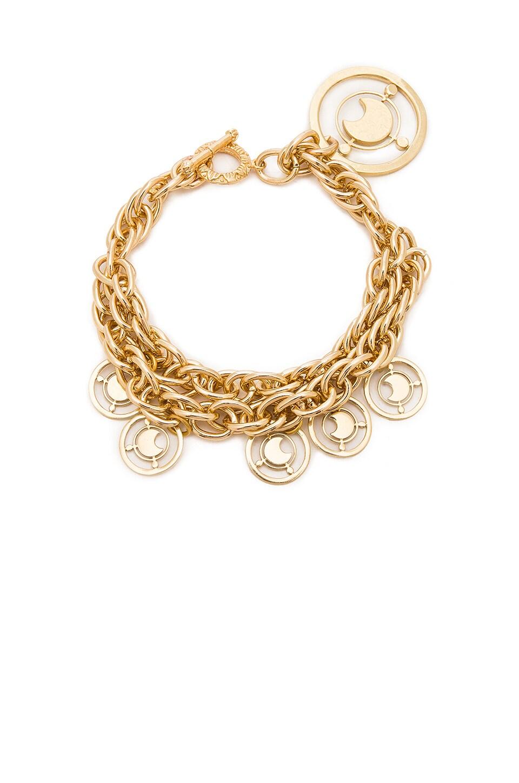 Fallon Metallic Gold Prodigiam Medallion Bracelet