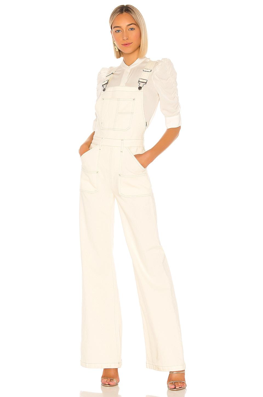 FRAME Carpenter Color Jumpsuit in Off White