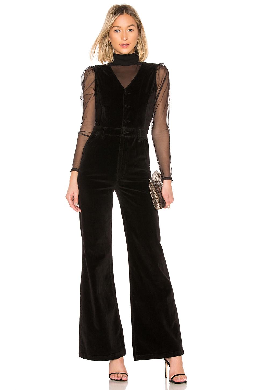 Velveteen Button Front Jumpsuit