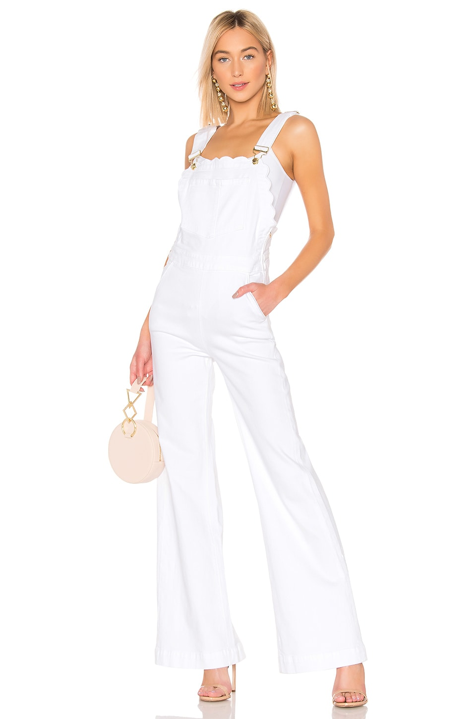 FRAME Scallop Edge Overall in Blanc