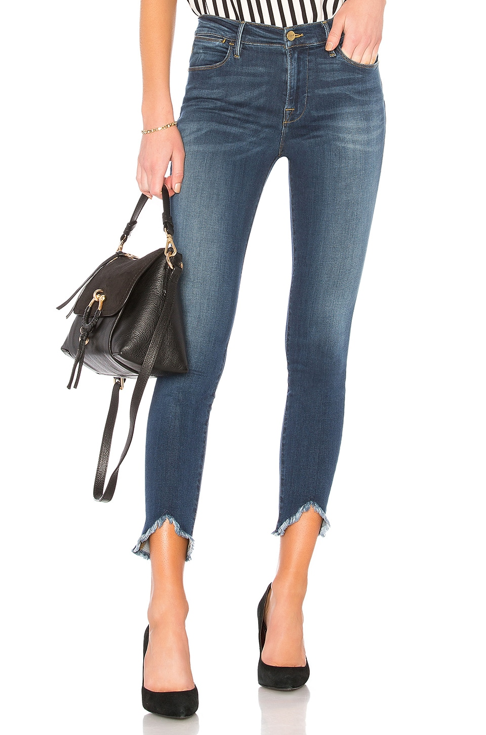FRAME Le High Skinny Jean in Sulham