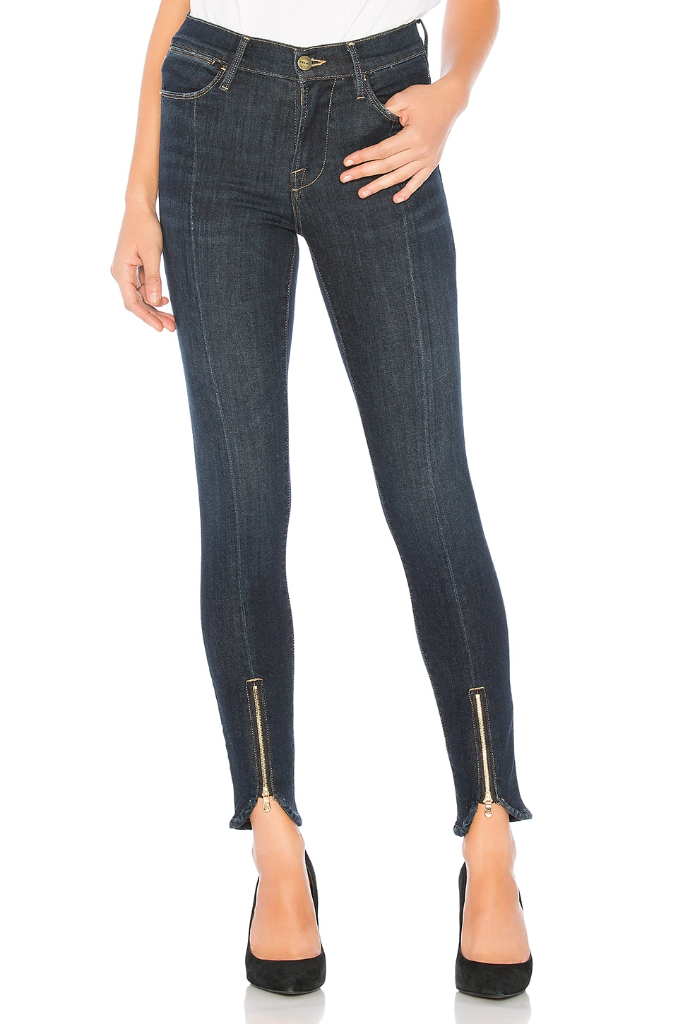 FRAME Le High Skinny in Ruffin
