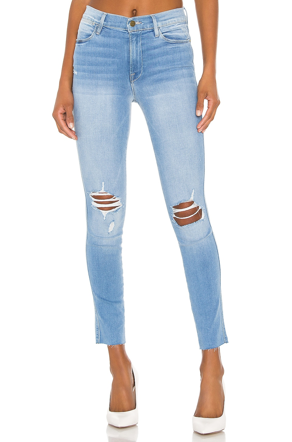 FRAME Le High Skinny Double Needle Crop in Daze
