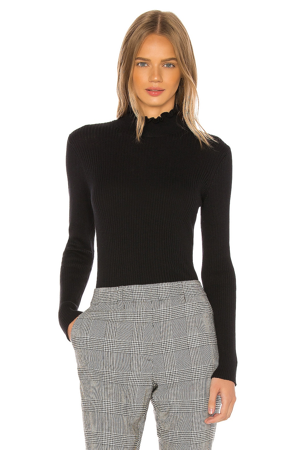 FRAME Turtleneck Sweater in Noir