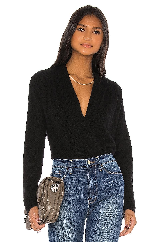 FRAME Criss Cross Sweater in Noir