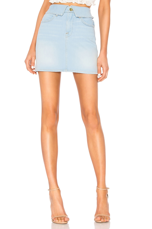 FRAME Le High Mini Fold Over Skirt in Socco