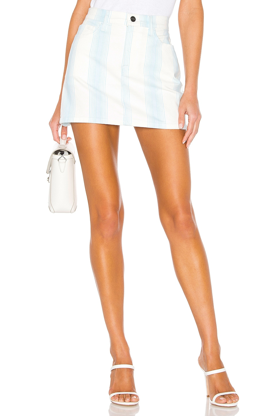 FRAME Le Mini Skirt in Ombre Stripe