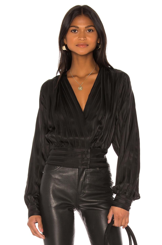 FRAME Overlap Top in Noir