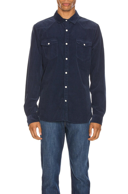 FRAME Long Sleeve Western Shirt в цвете Indigo