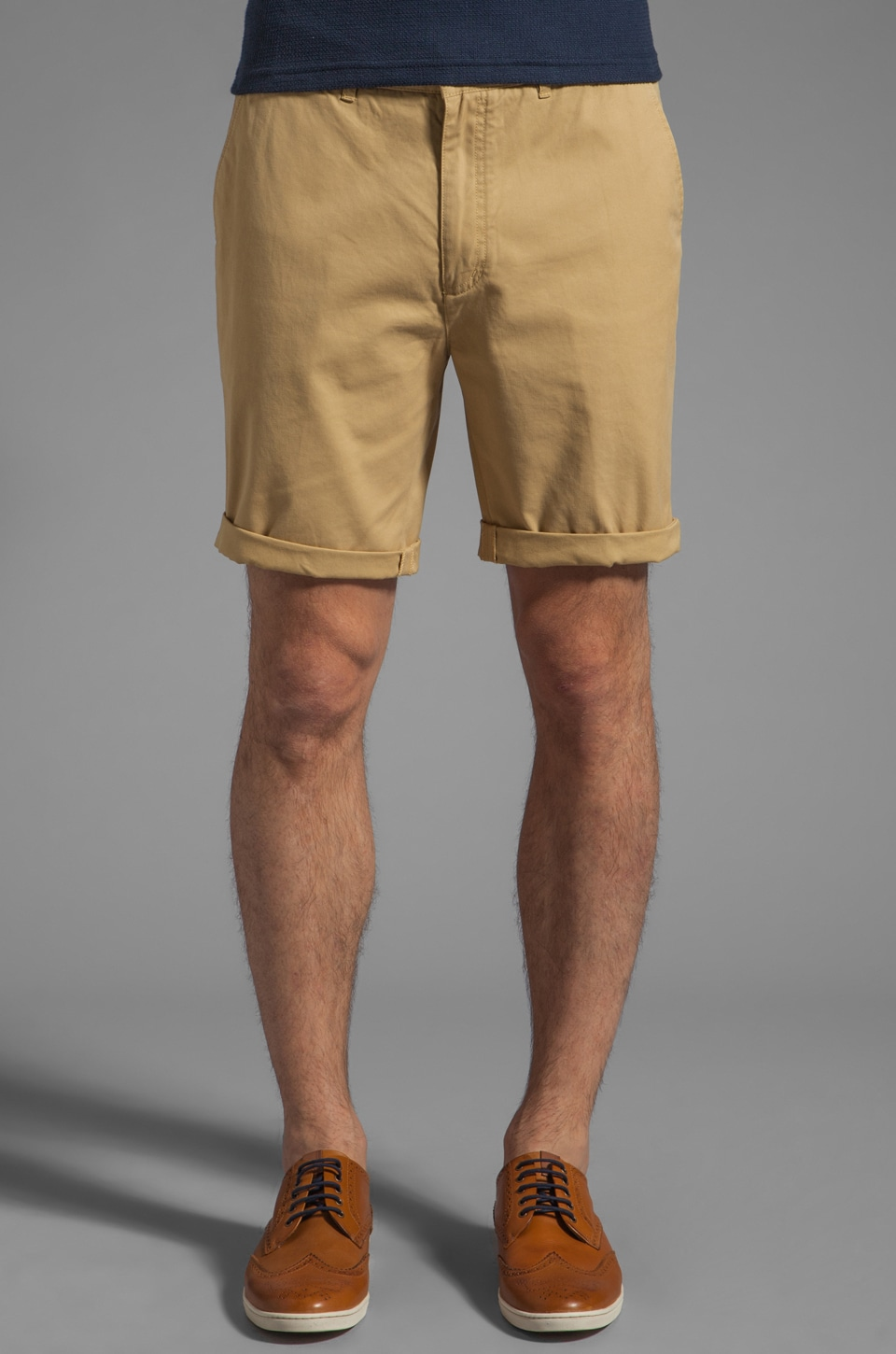 FARAH VINTAGE Chester Twill Short in Dust