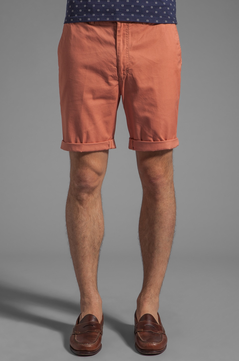 FARAH VINTAGE The Chester Twill Short in Trash Pink